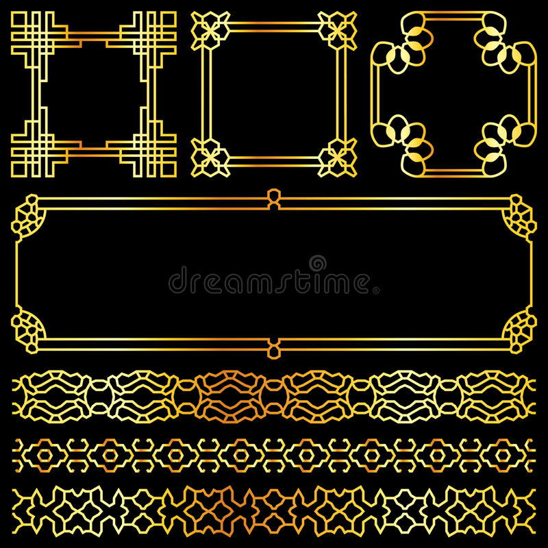 Black Gold Symbols And Party Borders