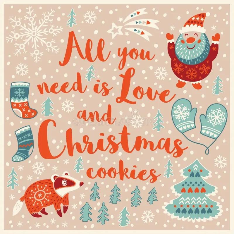 Download Greeting Holiday Card With Santa, Badger, Socks And ...