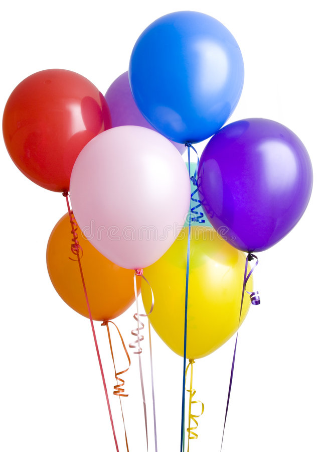 Group Of Ballons On White Stock Image Image Of Helium