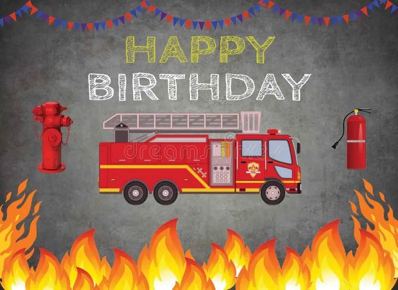 Birthday Firetruck Stock Illustrations 14 Birthday Firetruck Stock Illustrations Vectors Clipart Dreamstime