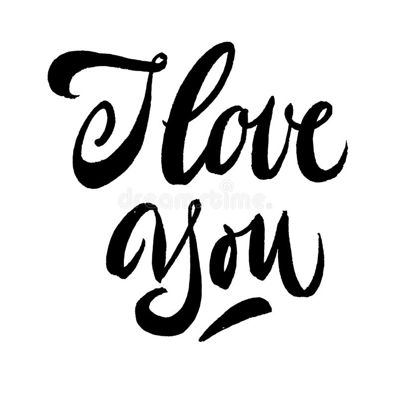 Download I Love You Calligraphy Pen And Ink Stock Vector ...