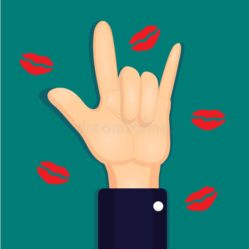 Download Businessman Show Hands I Love You Sign Language. Stock ...