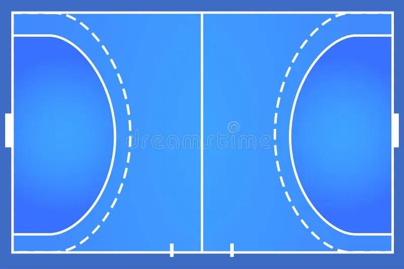 handball gericht stock abbildung