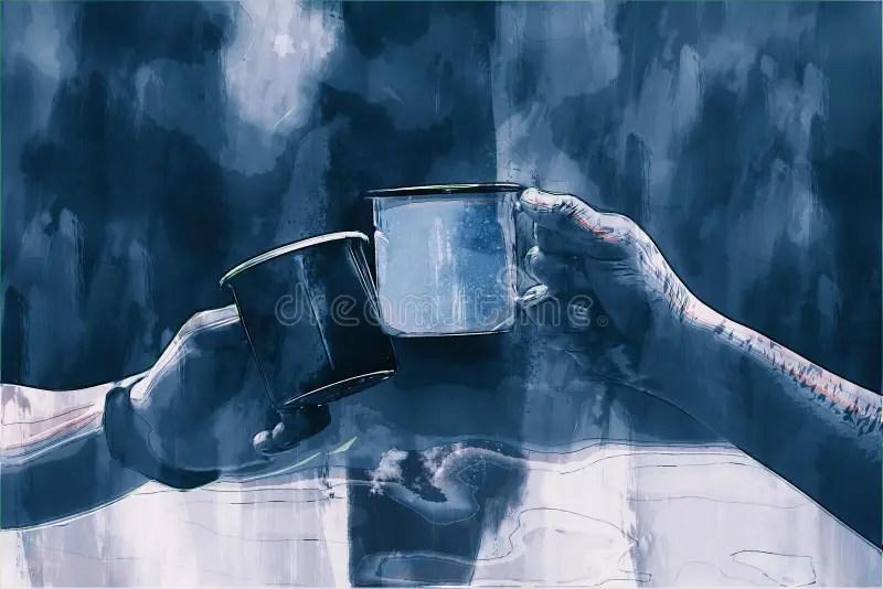 Digitale Malerei Im Stil Von Action Man Holding Waffe Stockfoto