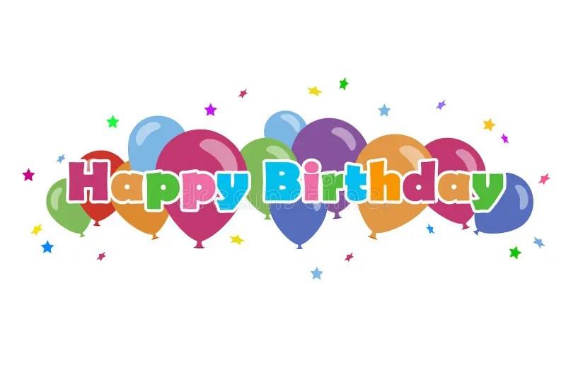 Happy Birthday Balloons Clip Art Vector Stock Image Illustration Of Event Scrapbook 175653749