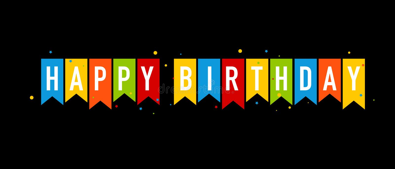 Happy Birthday Banner Black Stock Illustrations 33 895 Happy Birthday Banner Black Stock Illustrations Vectors Clipart Dreamstime