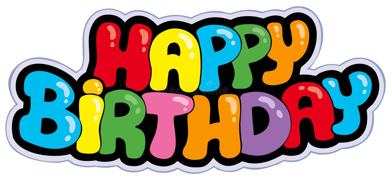 Happy Birthday Cartoon Sign Stock Vector Illustration Of Abstract Colorful 16032289