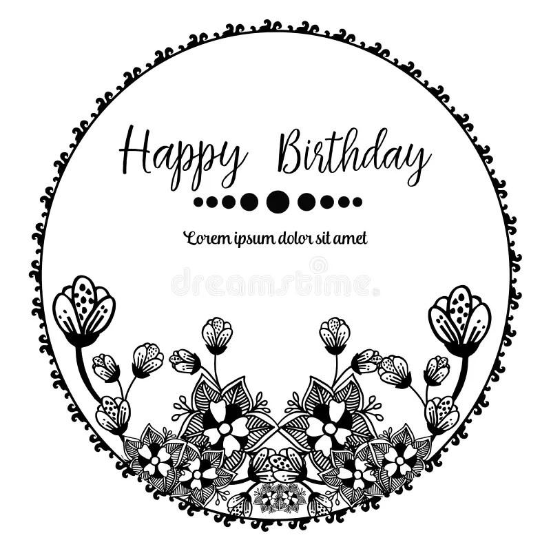 happy birthday invitation card with