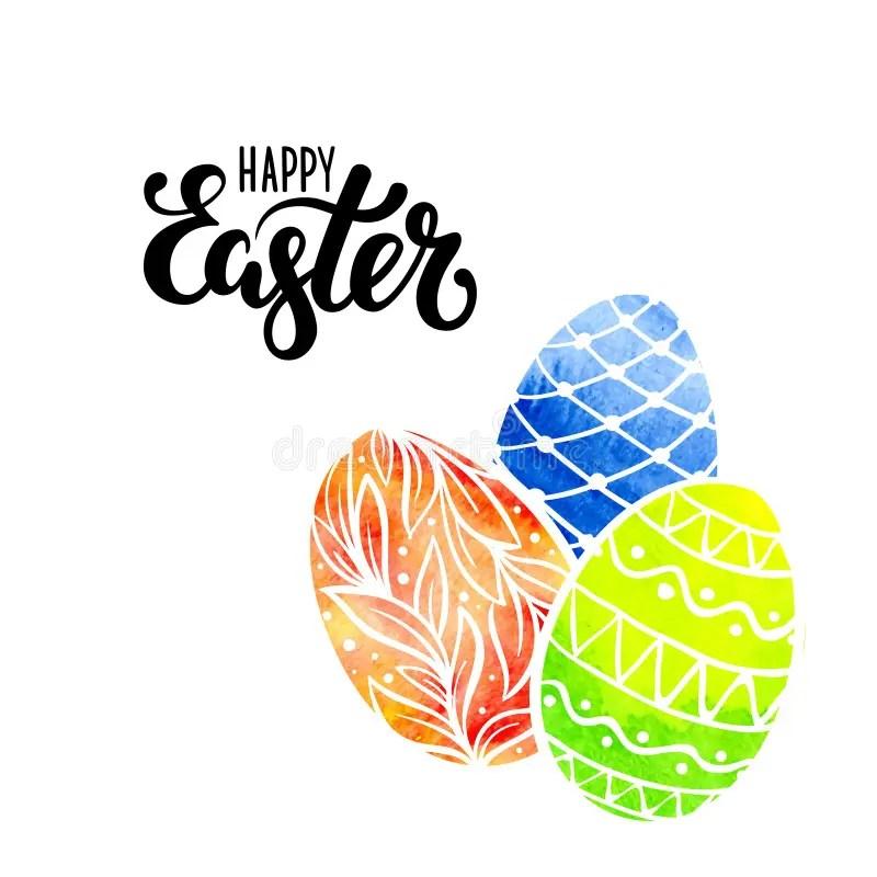 Doodle Blue Pen Easter Eggs Stock Illustration Illustration Of