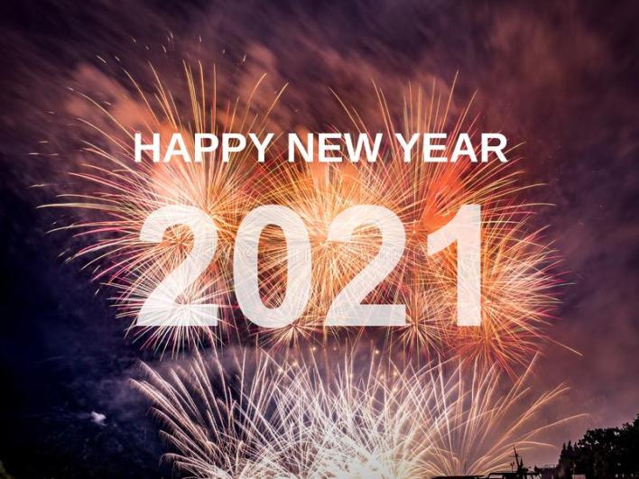 Happy New Year 2020 With Fireworks Background Stock Photo - Image of  festive, anniversary: 167813390
