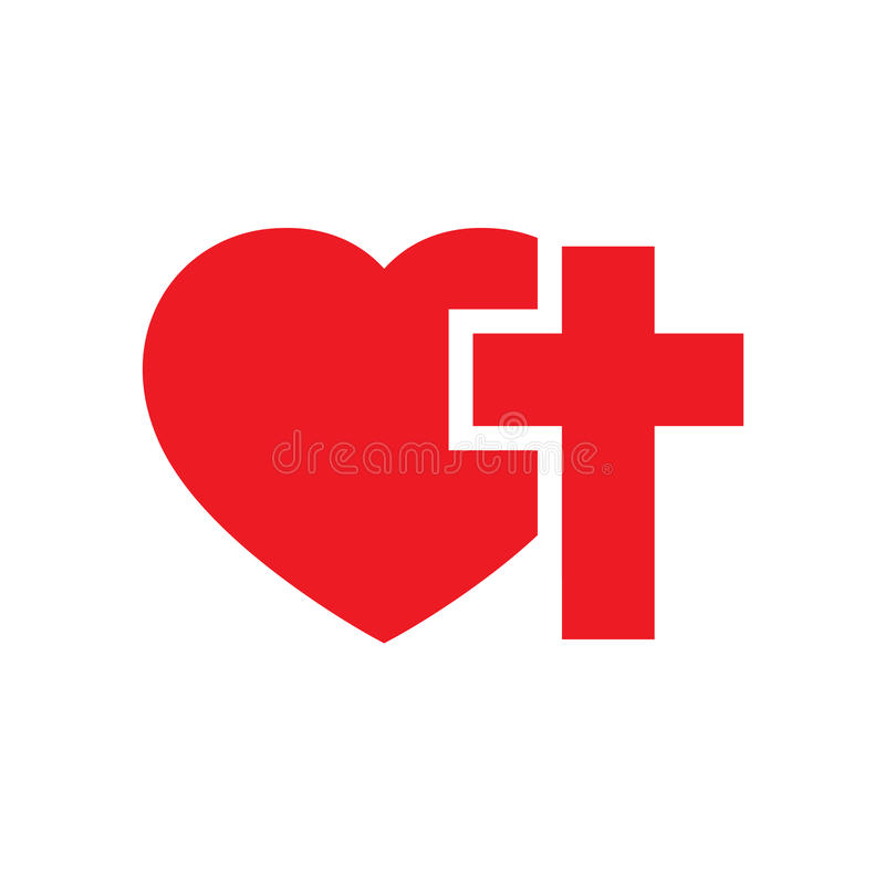 Download Heart And Christian Cross. Vector Illustration. Stock ...
