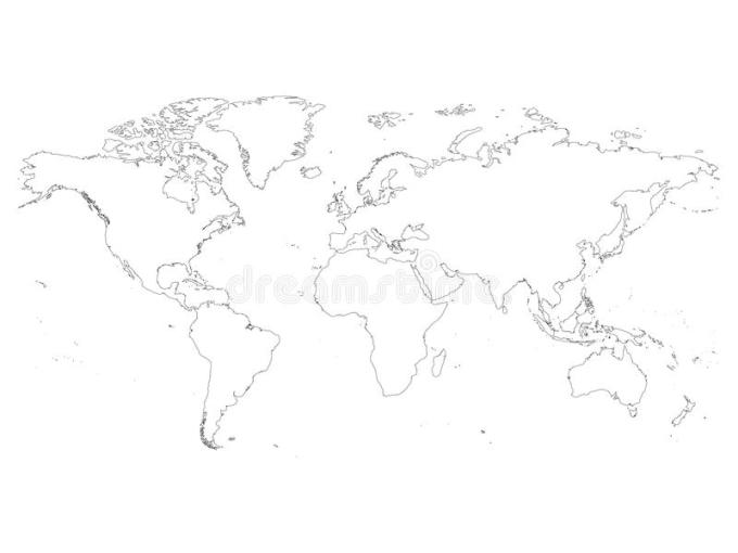 world map outline simple   April onthemarch co world map outline simple