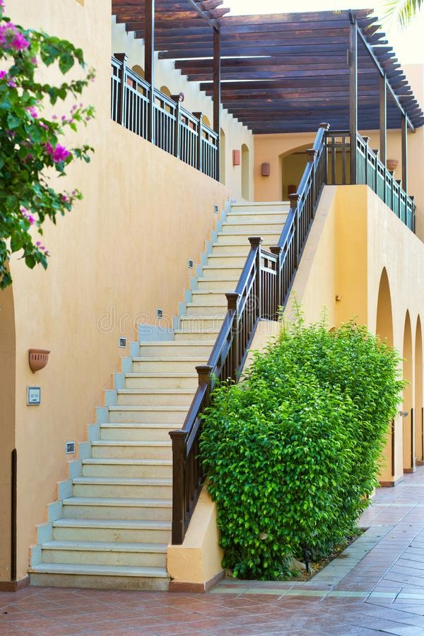 378 Stairs To Second Floor Photos Free Royalty Free Stock   Building Outside Stairs To Second Floor   Handrail   Metal Staircase   Stair Treads   Stairs Leading   Spiral Stairs