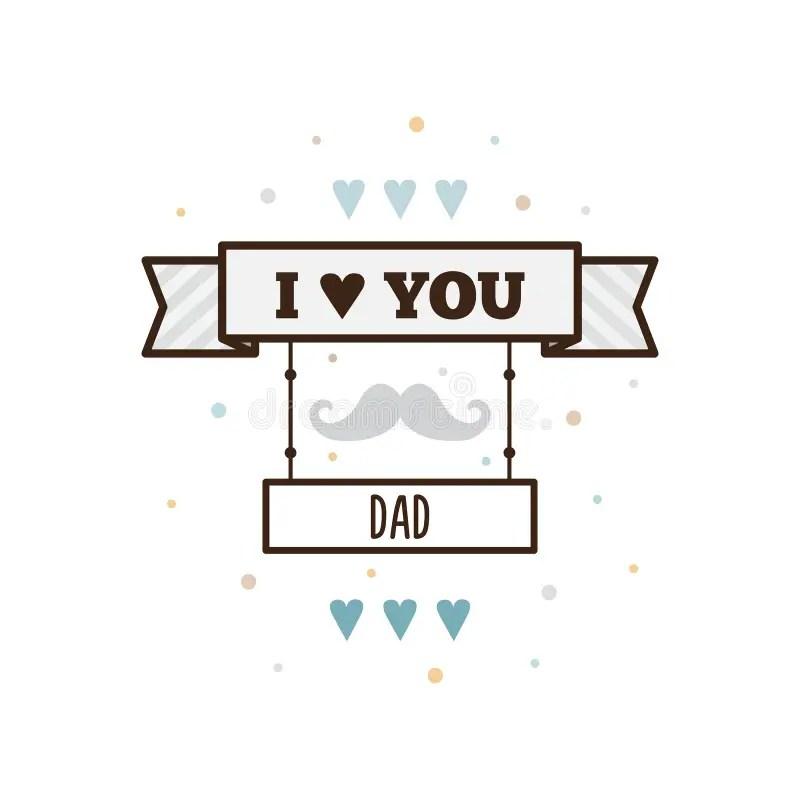 Download I Love You Dad. Vector Illustration. Stock Illustration ...