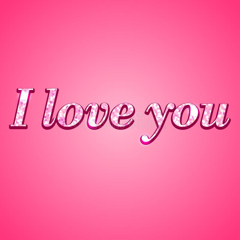 Download I Love You Concept With Text Stock Vector - Illustration ...