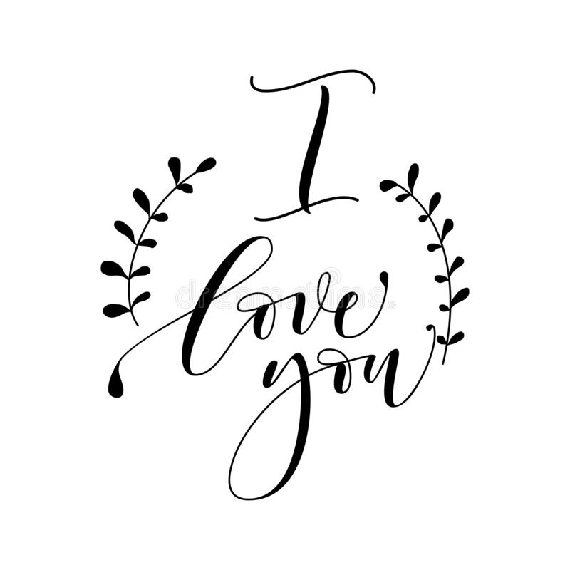 Download Love You - Hand Lettering, Handmade Calligraphy Stock ...