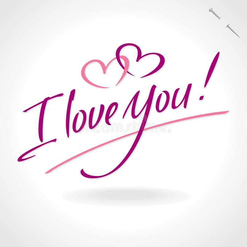 Download I Love You Hand Lettering (vector) Stock Vector ...
