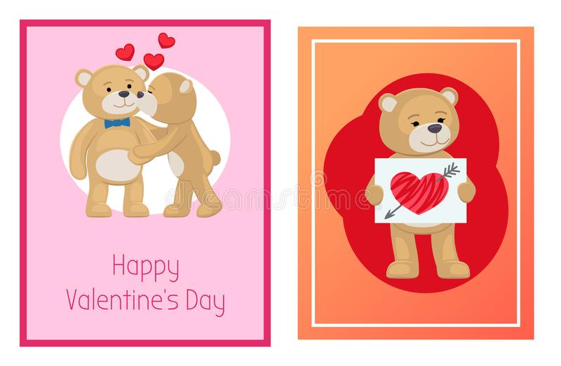 Download I Love You And Me Teddy Bears Vector Stock Vector ...