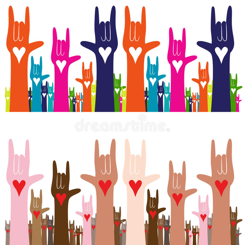 Download I Love You Sign Language stock vector. Illustration of ...