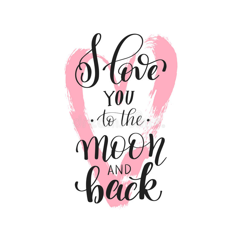Download I Love You To The Moon And Back Handwritten Calligraphy ...