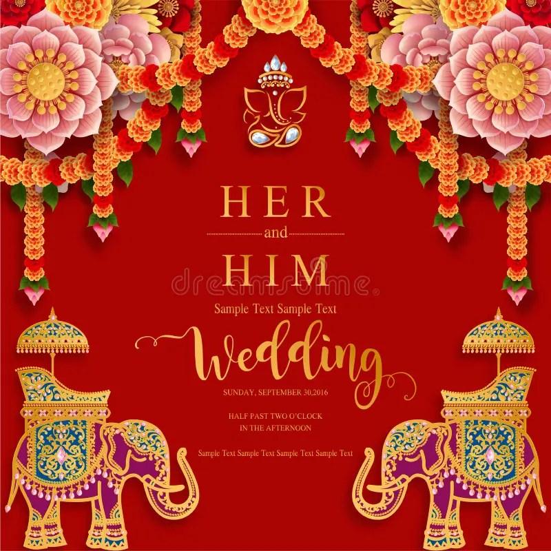 indian wedding card stock illustrations