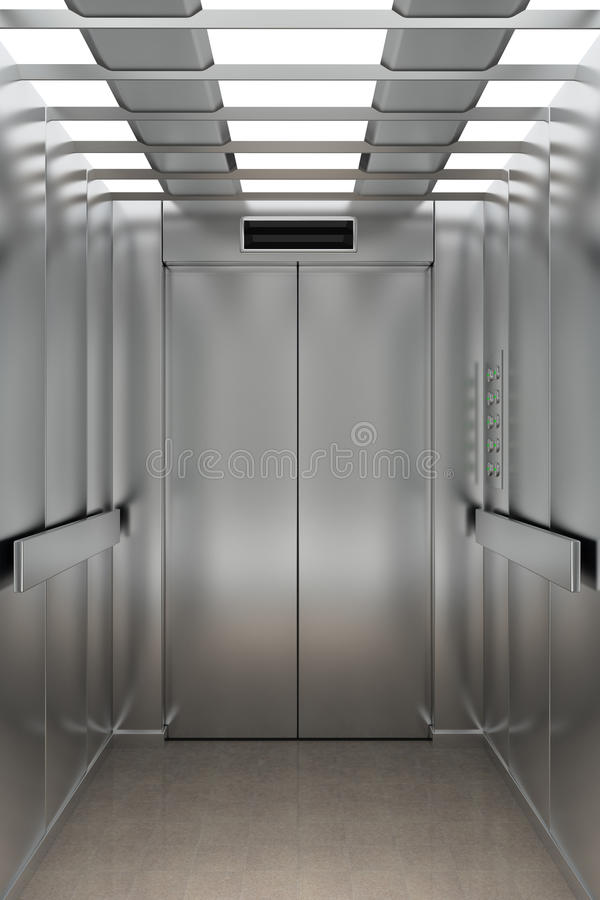Inside An Elevator Stock Illustration Illustration Of