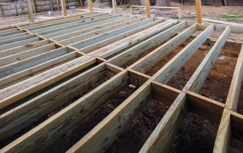 installing wood floor for patio deck