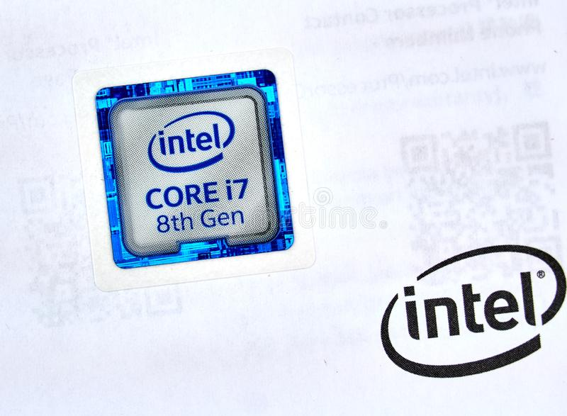Intel Logo And Cpu Editorial Photo Image Of Editorial 152983206