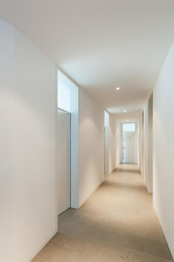 Interior Of A Modern House Corridor Stock Photo Image