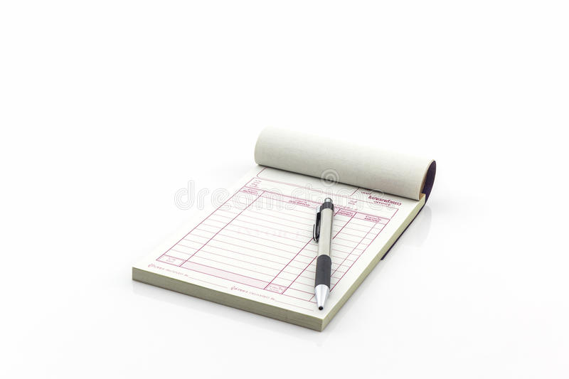 Invoice Book Which Open Blank Page With Pen  Stock Image   Image of     Download Invoice Book Which Open Blank Page With Pen  Stock Image   Image  of financial