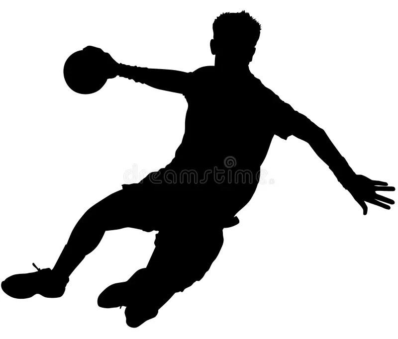 handball silhouette stock illustrations