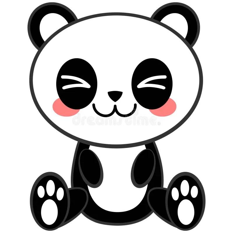 Kawaii Panda Stock Vector Illustration Of Cute Panda 72947991
