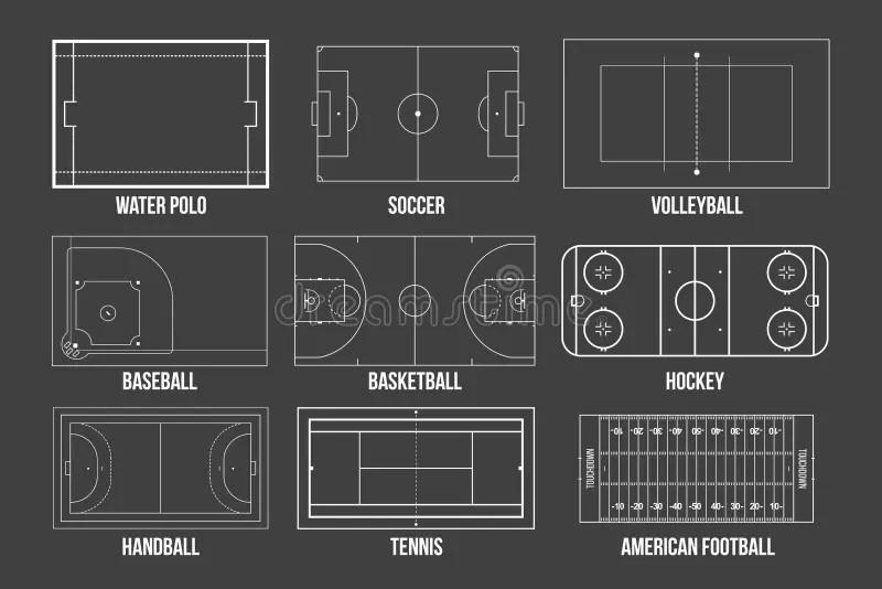 handball field stock illustrationen