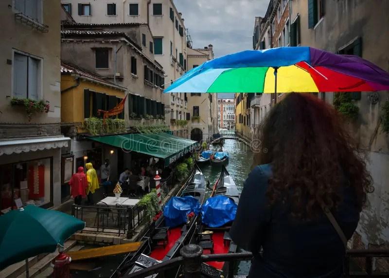 la pluie a venise l italie photo