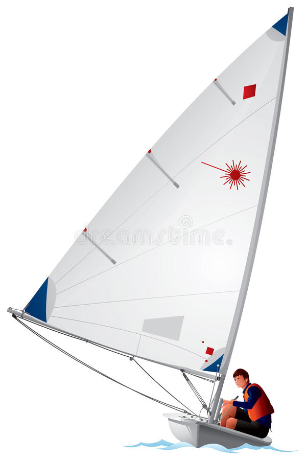 Laser Class Sailboat Stock Vector Illustration Of Laser