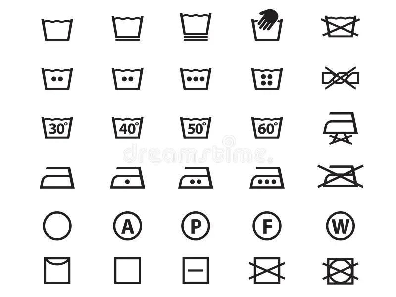 Washing Label Symbols On Clothes