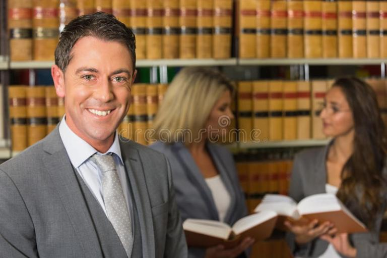 Lawyers In The Law Library Stock Image Image Of Female