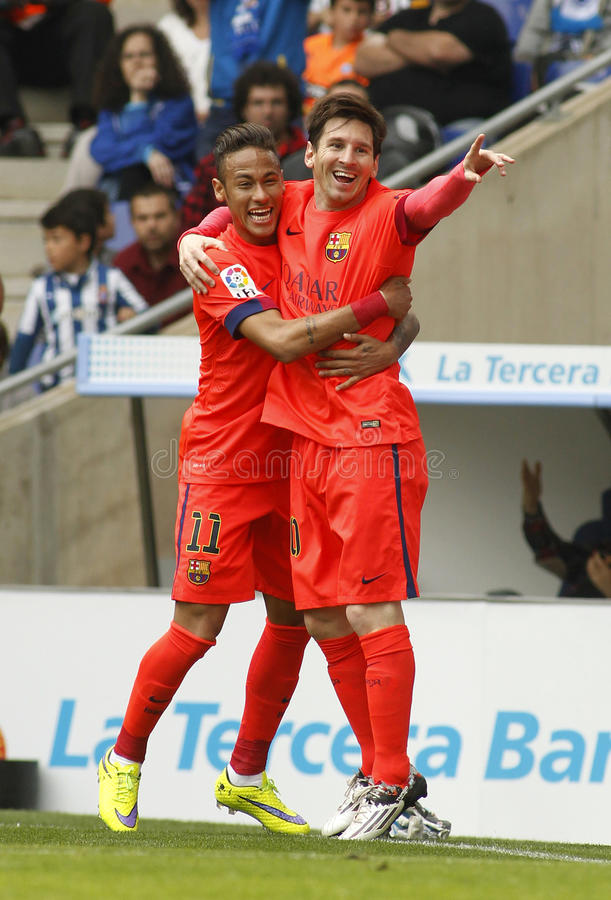 neymar and messi goal celebration