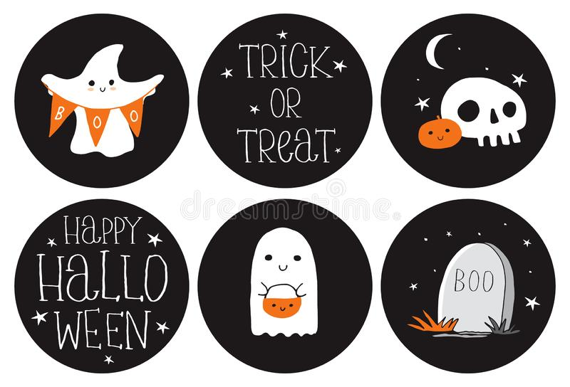 Ghosts Stickers Stock Illustrations 118 Ghosts Stickers Stock
