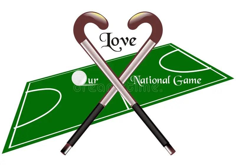 Download Love hockey stock vector. Illustration of ball, green ...