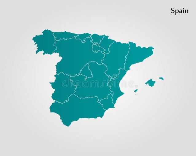 Map of Spain stock illustration  Illustration of plain   103357959 Download Map of Spain stock illustration  Illustration of plain   103357959