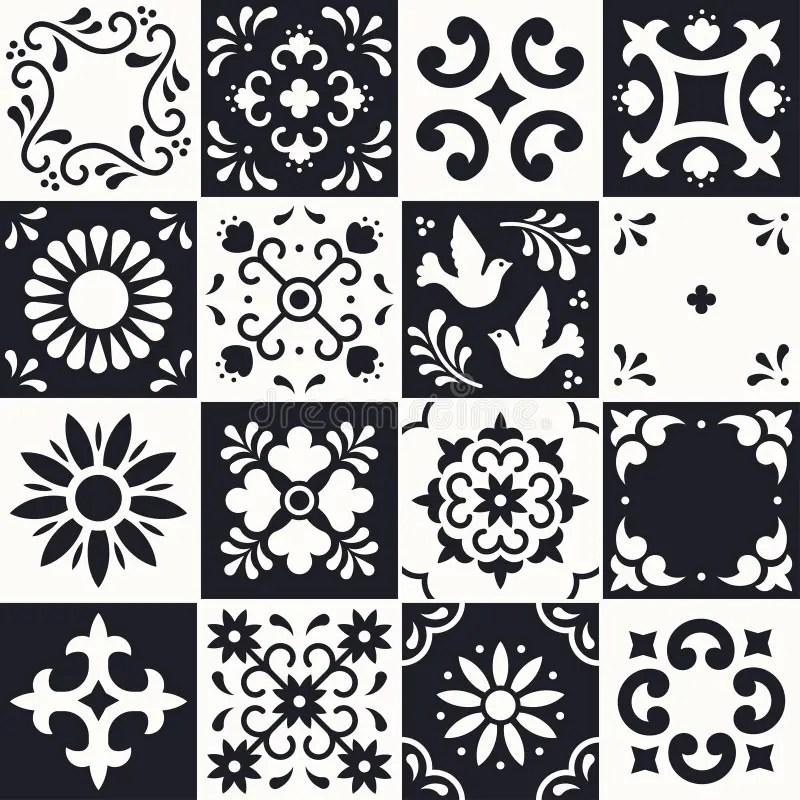 mexican talavera pattern ceramic tiles