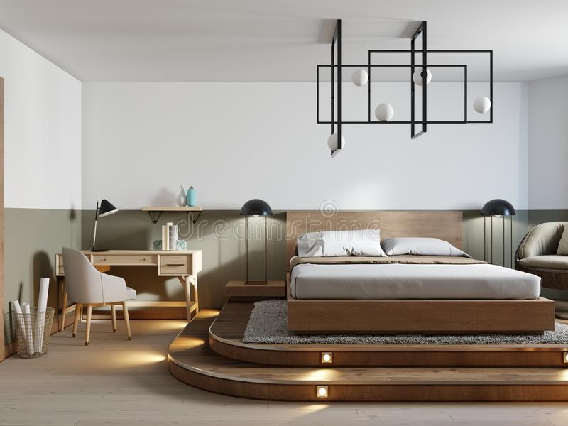 modern rustic bedroom design and a bed