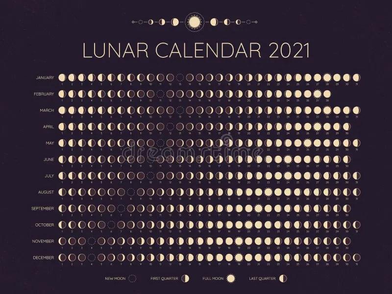 Moon Phase Calendar Stock Illustrations – 794 Moon Phase Calendar Stock  Illustrations, Vectors & Clipart - Dreamstime