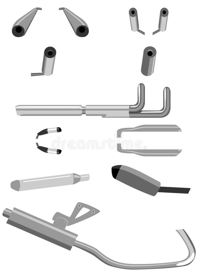 motorcycle exhaust stock illustrations