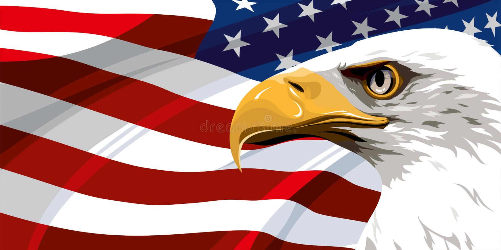 The National Symbol Of The Usa Stock Vector