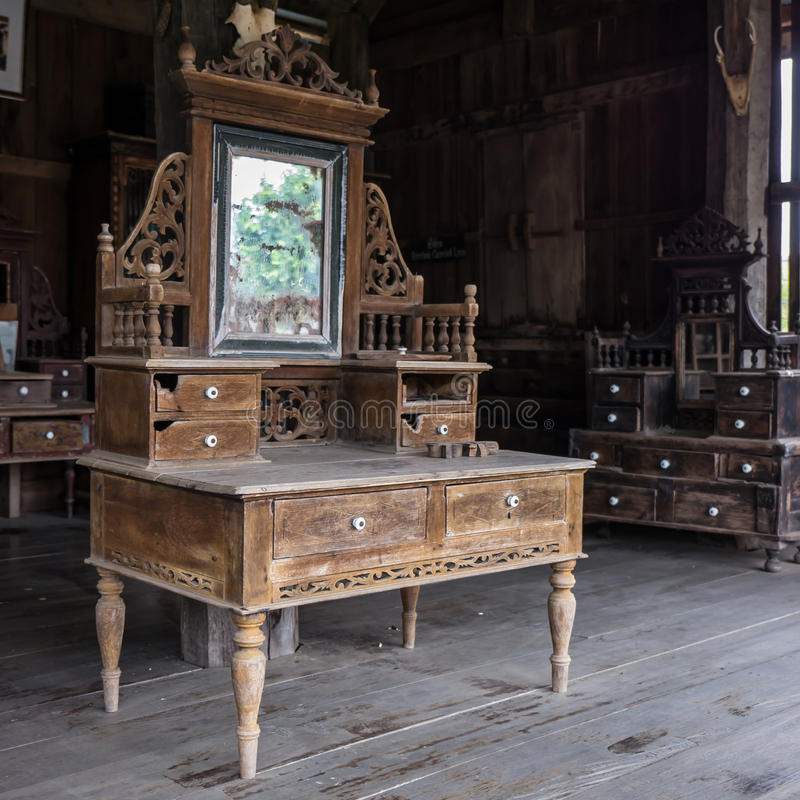 Old Dressing Table Stock Photo Image Of Wood House