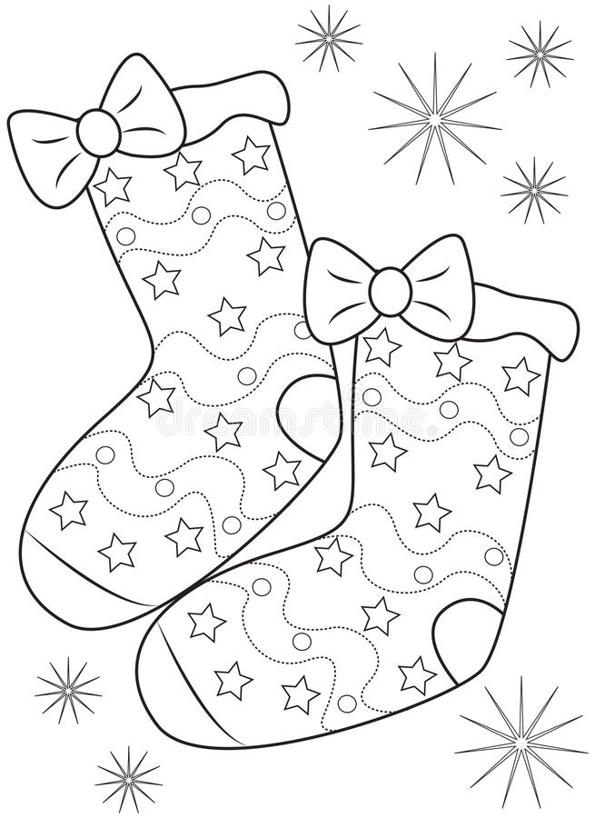 pair of socks coloring page stock illustration