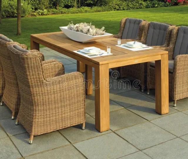 Patio Table In Garden Free Public Domain Cc Image