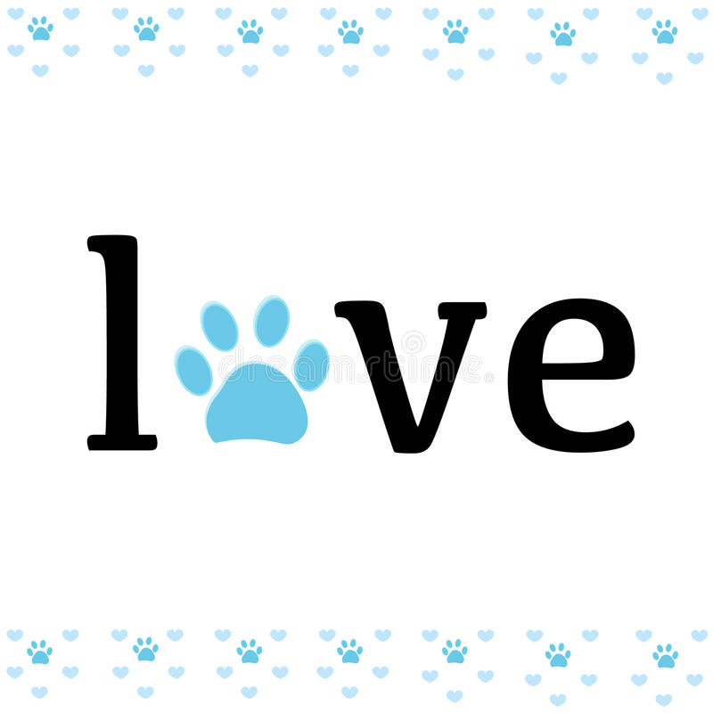 Download Paw Print With Love Vector Illustration Stock Vector ...